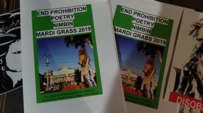 End Prohibition Poetry Nimbin Mardi Grass 2019
